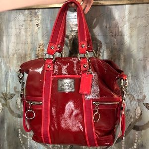 Authentic Coach Red Poppy Purse 13835